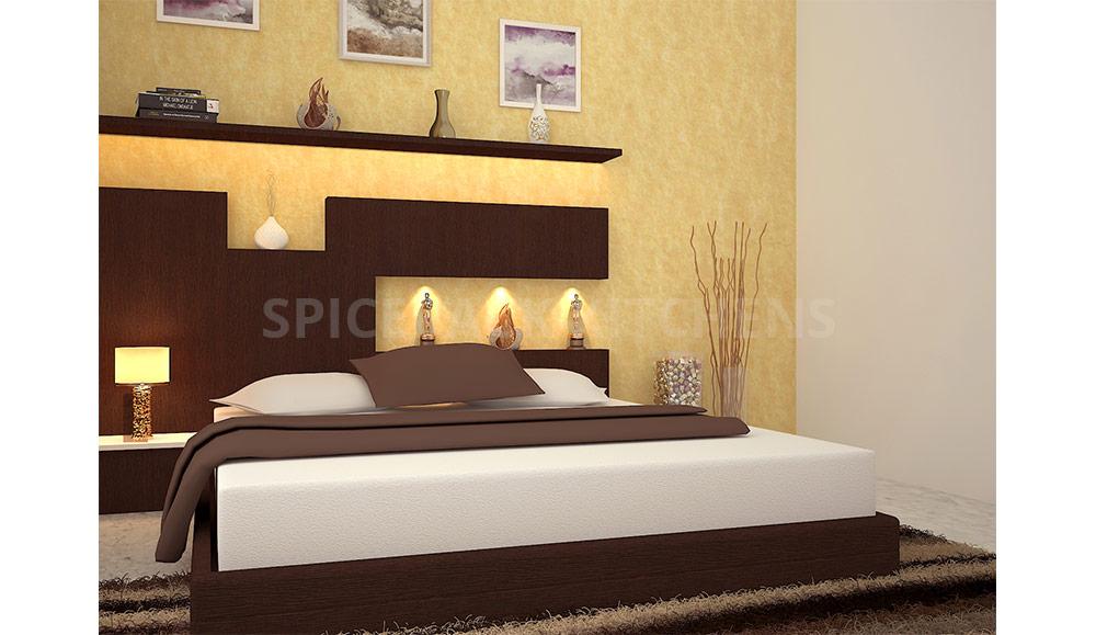 Yellow Wall Design Bedroom Design Ideas