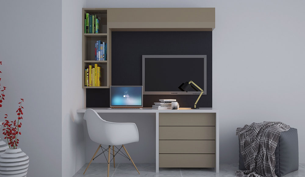 Contemporary Study Table Unit