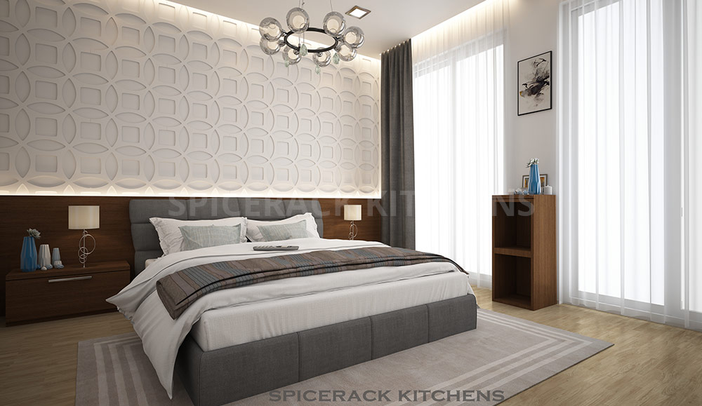 Wooden Grey Texture Bedroom Design Idea